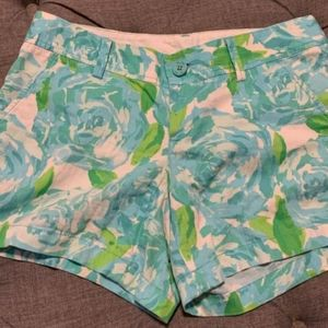 Lilly Pulitzer Pool Blue First Impressions Shorts